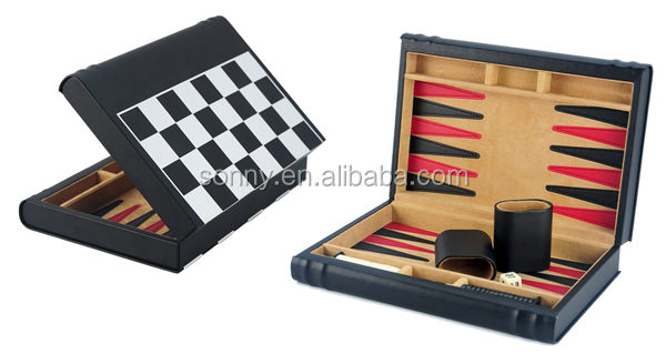 15 Inch Folding Travel Chess and Backgammon Board Game