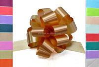 plastic pom pom pull bow for wedding decoration