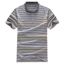 Striped polo t shirt /100% cotton printing or embroidery polo shirt