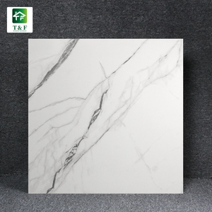 60 x 60 full body statuary white marble look porcelain tile exterior homogeneous floor and wall marble look tile