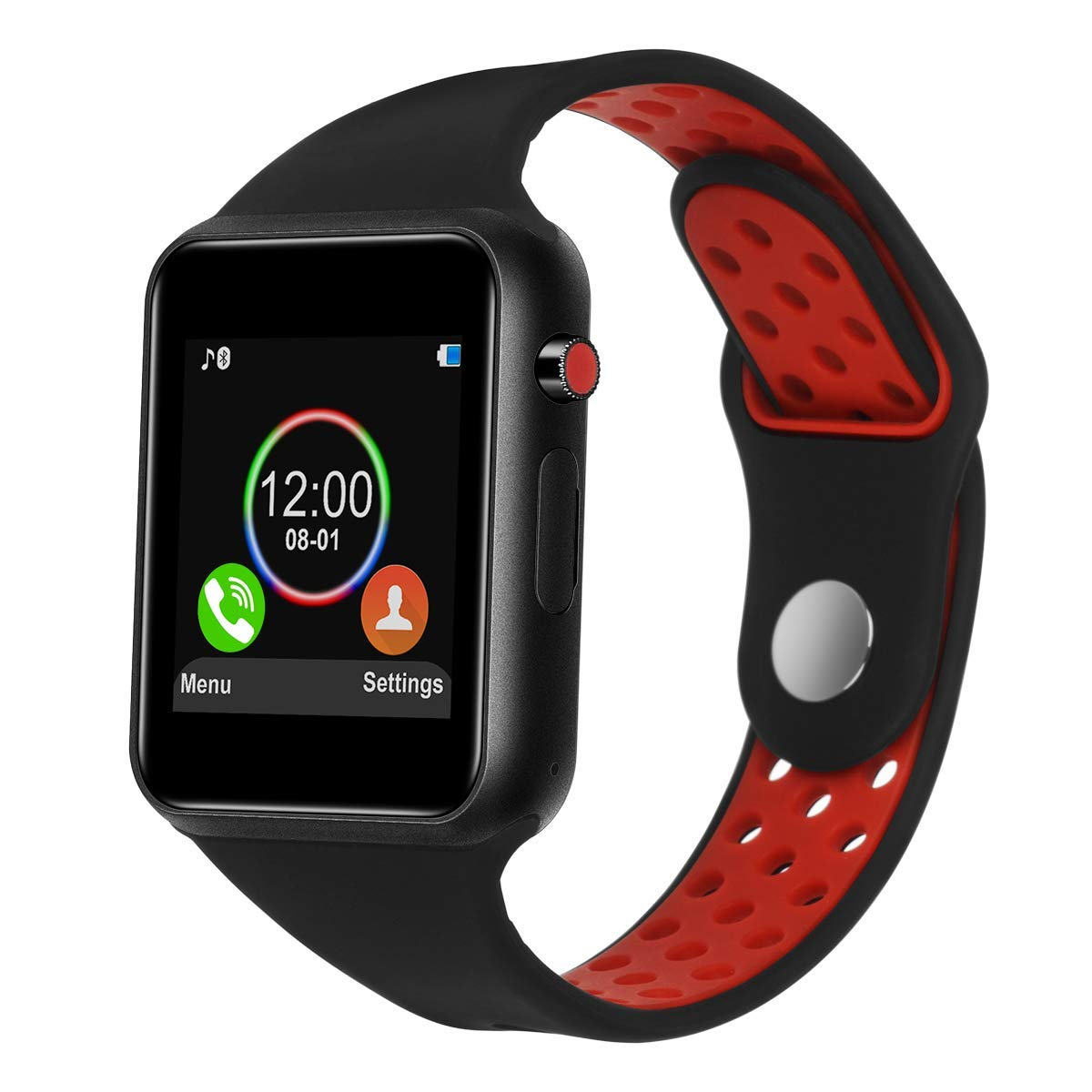 Smart Watches for Android Phones,IOQSOF Touchscreen Bluetooth Smart Watch with Camera,Android Smartwatch,Waterproof Smart Watches Compatible Samsung iOS iPhone X 8 7 6 6S Plus 5 Men Women Include TF