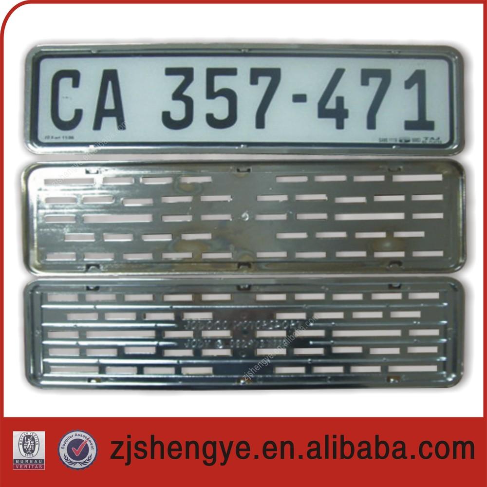 European Custom Car Plastic License Plate Frame,License Plate Cover ...