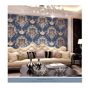 Rococo Style De Luxe Profond Relief Papier Peint 3d Wallpaper Design ...