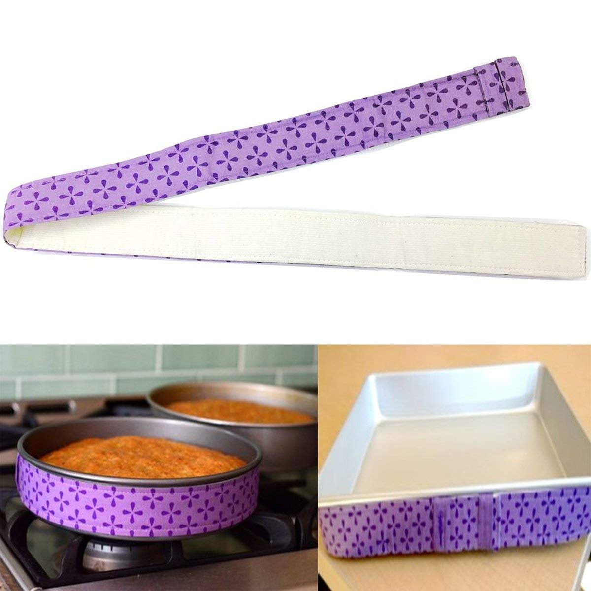 Tacoli- 2018 New Cake Pan Strips Bake Even Strip Belt Moist Level Cake Decorating Tools Baking Sheet To Protect Banding Cloth Pasty Tool