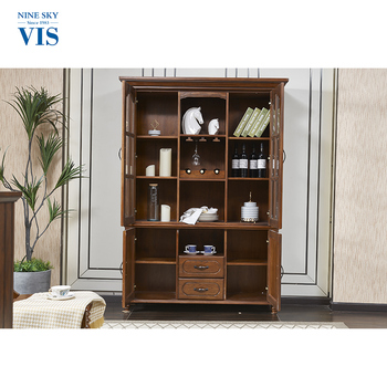 China Supplier Assemble Modern Liquor Display Cabinet/Corner Bar Cabinet  Furniture