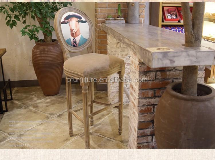 Sgabello In Legno Design : Design unico mobili bar alto sgabello in legno americano sedia bar