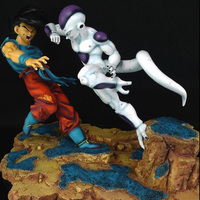 dragon ball z action figure resin handmade super saiya goku vs frieza figurine big statue for decoration