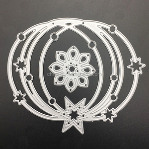 2PCS Set Card Cutting Stencil Decorative Embossing Metal Cutting Dies Scrapbooking