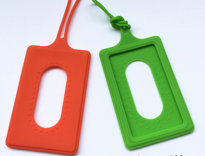 Silicone/Plastic Wrist Strap Working Card ID Badge ID Card Holder
