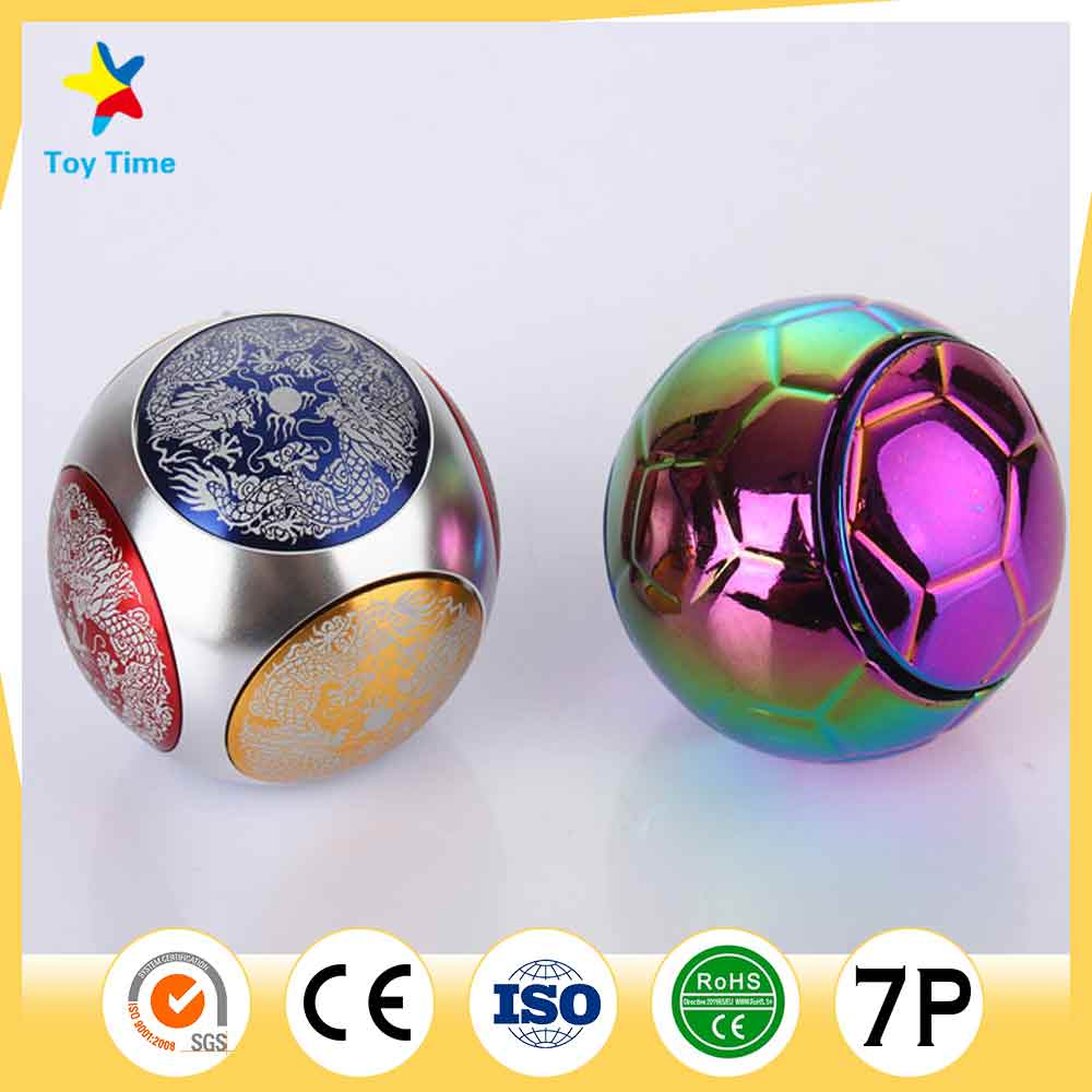 Very Fashion Metal Plating Round Workroom Toy Fidget Ball Toy for Adult Teenage