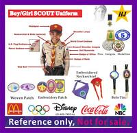Boy/Girls Scout Uniform patrol emblems