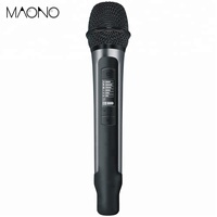 Dynamic aluminum alloy process wireless microphone with mini portable receiver