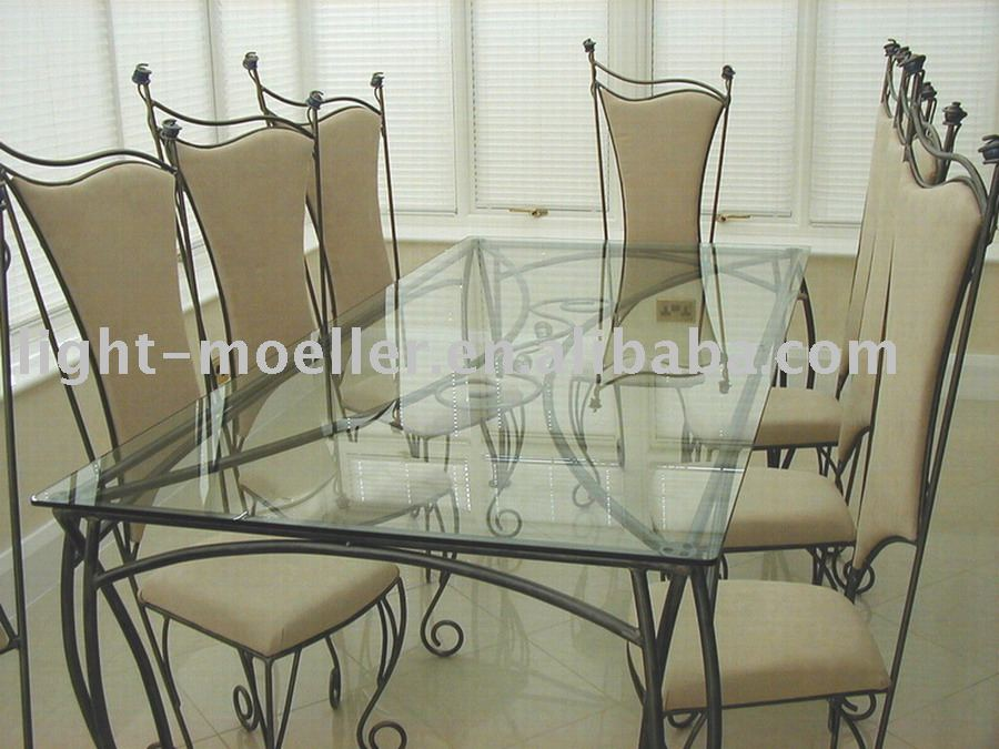 Wrought Iron Dining Chairs And Table - Buy Heavy-duty Dining Table ...