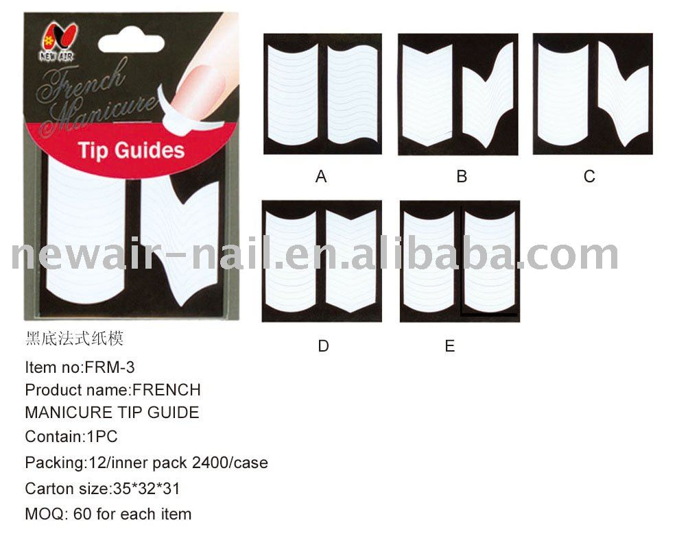 Guides For Circle Edge French Manicure Nail Tips - Buy Stamped ...