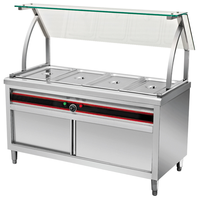 Catering Equipment Commercial Stainless Steel Electric Buffet Food Warmers/Bain Maire With Top Shelf BN-B01