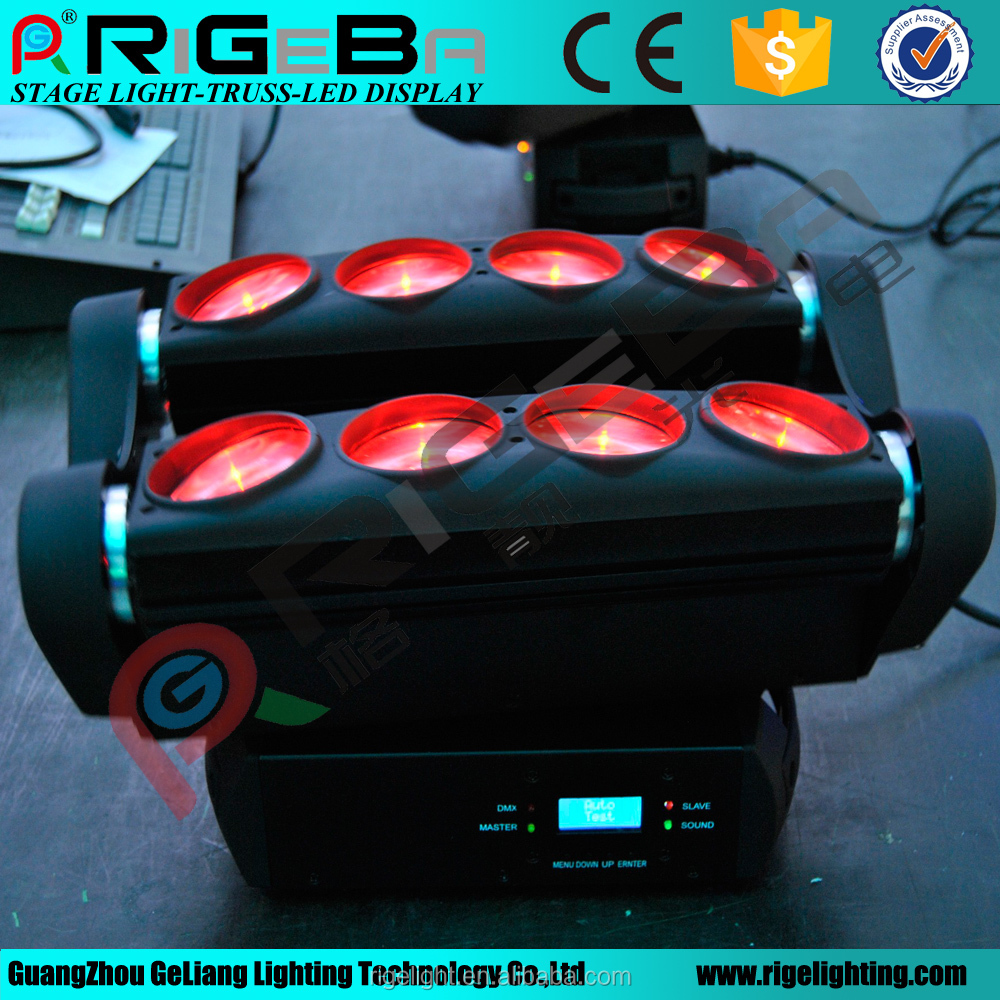 Full color 8*10w RGBW 4IN1 led moving head beam spider light