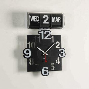 464a3c23786 A00AF801 diamante forma escritório virar relógio de parede calendário