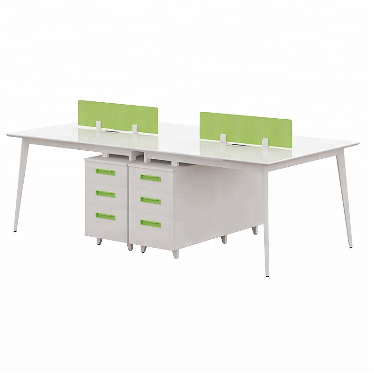 Office Furniture Modern Triangle Office Partition Desk Cubicle Modular Workstation Desk