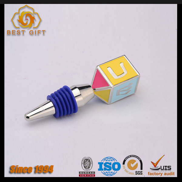 Wholesale custom zinc alloy fancy wine stopper