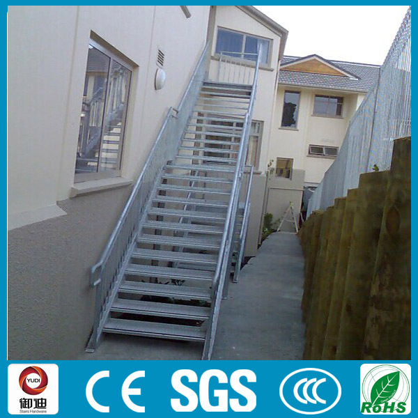 Commercial Building Outdoor Straight Metal Staircase Designs