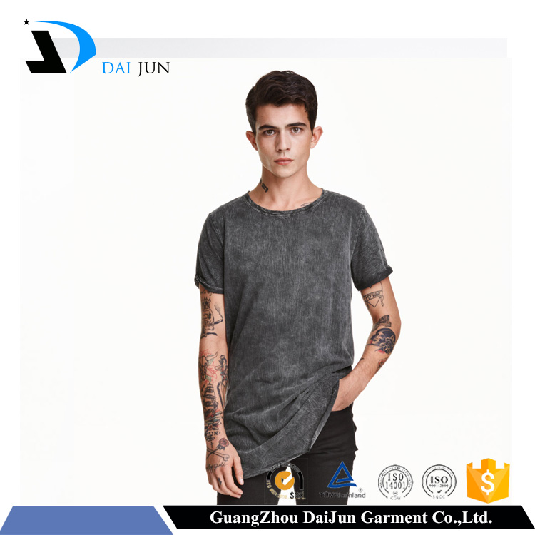 Guangzhou Daijun oem o neck high quality plain breathable t shirt producer