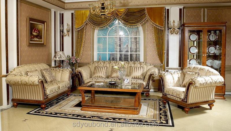 0031 High Quality Luxury Classic Living Room Sofa Set Furniture