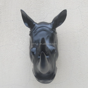 Custom Make Faux Rhino Head Animal Head Wall Decoration,Make ...