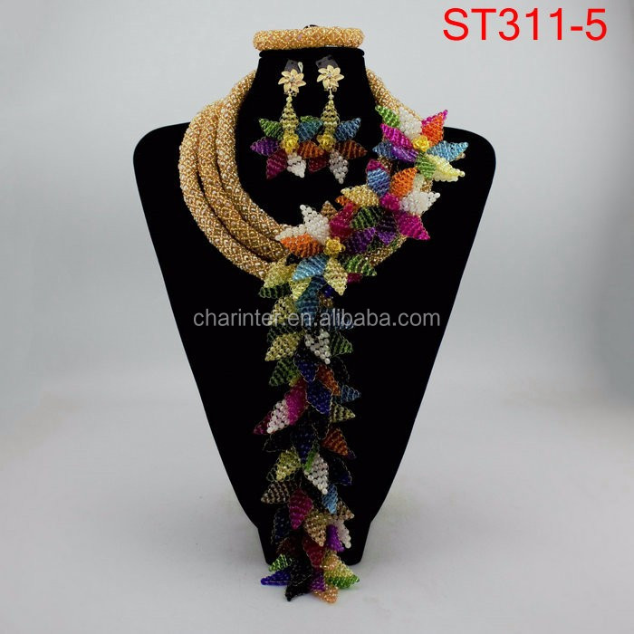 charinter jewelry coral beads nigerian party beads necklace set african wedding beads fashion jewelry set