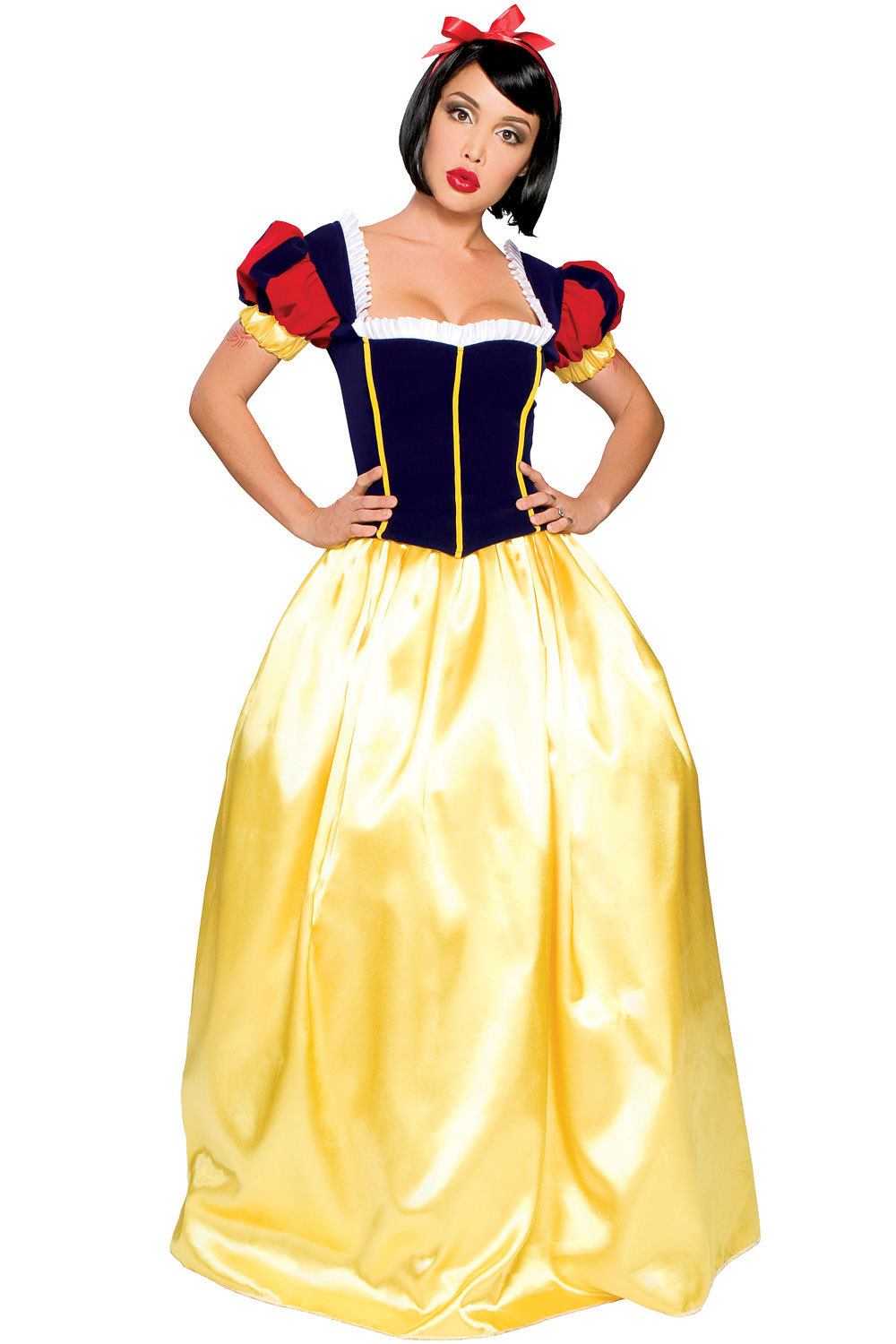 e7e12e831092 Get Quotations · 2015 Deluxe Snow White Princess Dress Halloween Party  Cosplay Costume Adult Women Girl Fairy Tale Fancy