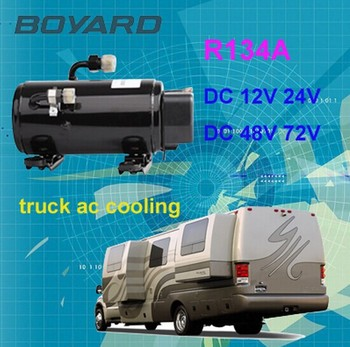 R134a Brushless 12v Dc Air Conditioner Compressor For Ev