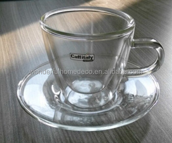 2oz Heat Resistant Pyrex Gl Cup Small Coffee And Saucer Set