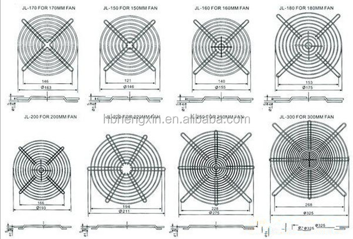 Fan netten 120mm Metal Fan Grill Cover Uitstralende Beschermhoes Netto Filter Guard 120mm * 120mm