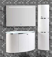 High quality pvc wall mounted bathroom vanity unit,white bathroom vanity with side cabinet