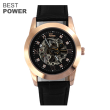 Top watch manufacture Wholesale Luxury Design Stainless Steel Waterproof Skeleton Automatic and Mechanical Watch