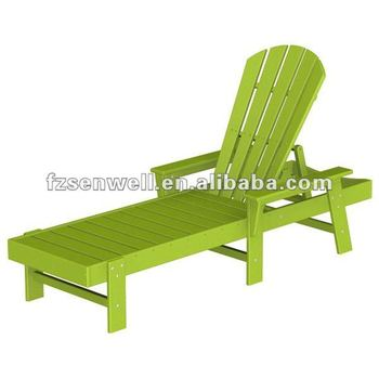 Wood south beach adirondack chaise lounge for leisure time for Adirondack chaise