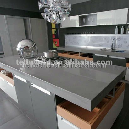 High Gloss Kitchen Countertops Grey Solid Surface Countertops   Buy High  Gloss Kitchen Countertops,Polishing Solid Surface Countertop,Grey Solid  Surface ...
