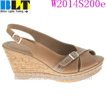 4882c5f72a8 Blt-qz 3 1 2 Inch Cork Wedge Heel Sandal Style Shoes - Buy Casual ...