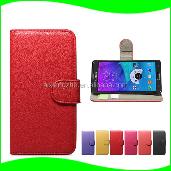 Litchi wallet cover fancy mobile phone case for samsung galaxy note 5,waterproof case for samsung galaxy mega 6.3'' i9200