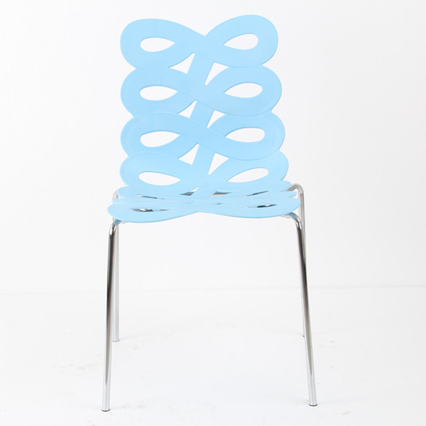 new design plastic chairs with chromed legs plastic chairs in low price
