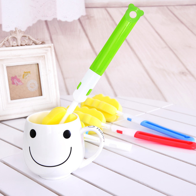 Sponge Baby Bottle Cleaning Sponge Brushes Glass Milk Feeding Bottle Cup Brush Cleaning Cup Scrubber Washing Brushes