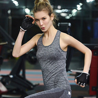 T Shirt With Wholesale Price Fitness high elastic yoga running gymnastics Gymshark T Shirt quick - moving sports top vest