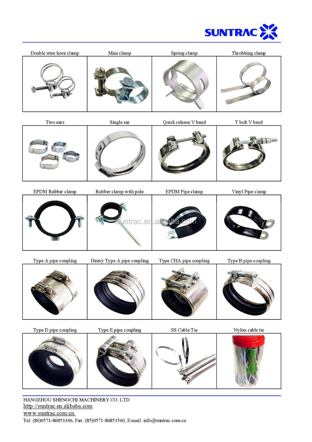 Zinc plated steel mini type hose clip clamps buy