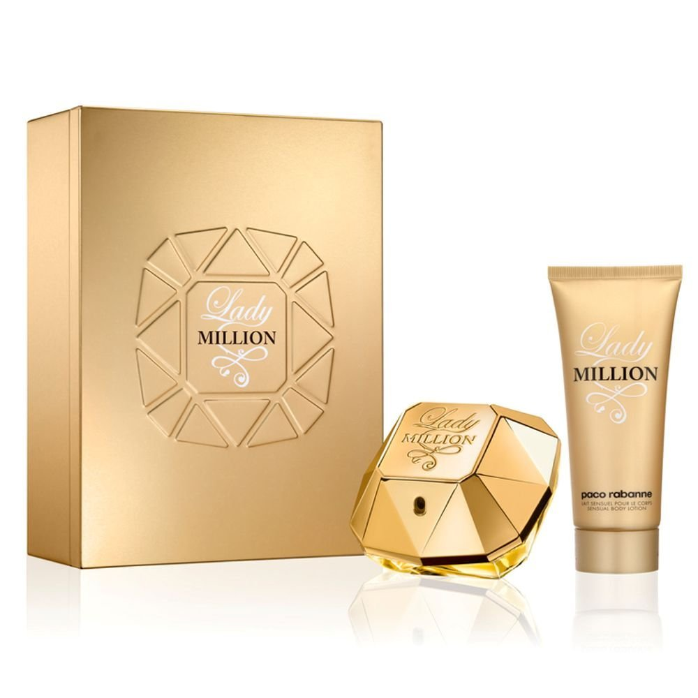 Paco Rabanne LADY MILLION Gift Set : 50ml EDP Spray, 100ml Body Lotion by Paco Rabanne