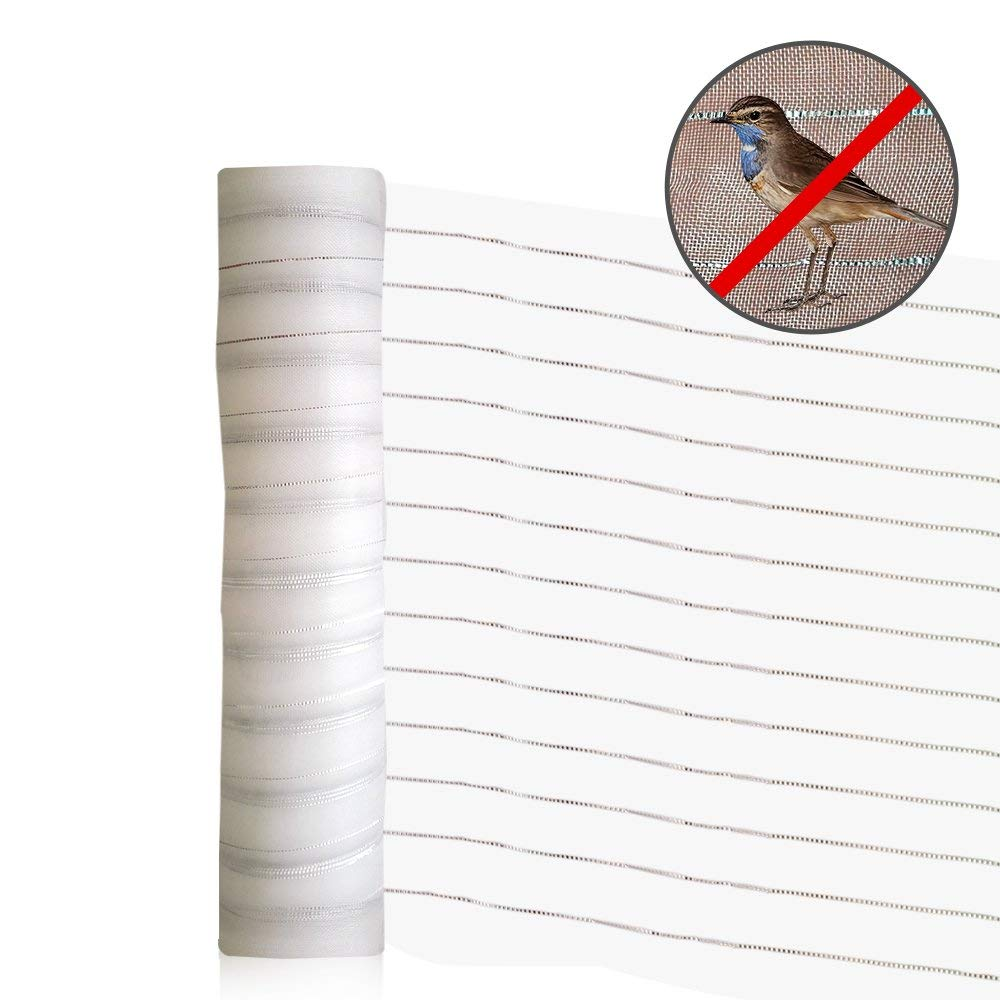 Agfabric New Effective Pest Control Netting 2 Functions Insect-Bird Garden Netting with Silver Thread for Bird Repellent Bird barrier 10'x12' White