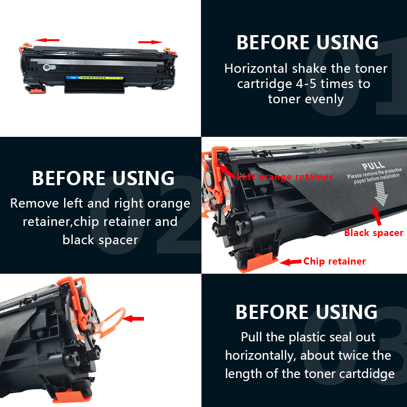 toner cartridge  12A .88A .85A.78A.36A 15A compatible for HP printer