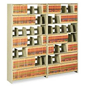 """Tennsco - Snap-Together Six-Shelf Closed Add-On Steel 36W X 12D X 76H Sand """"Product Category: Office Furniture/File & Storage Cabinets"""""""
