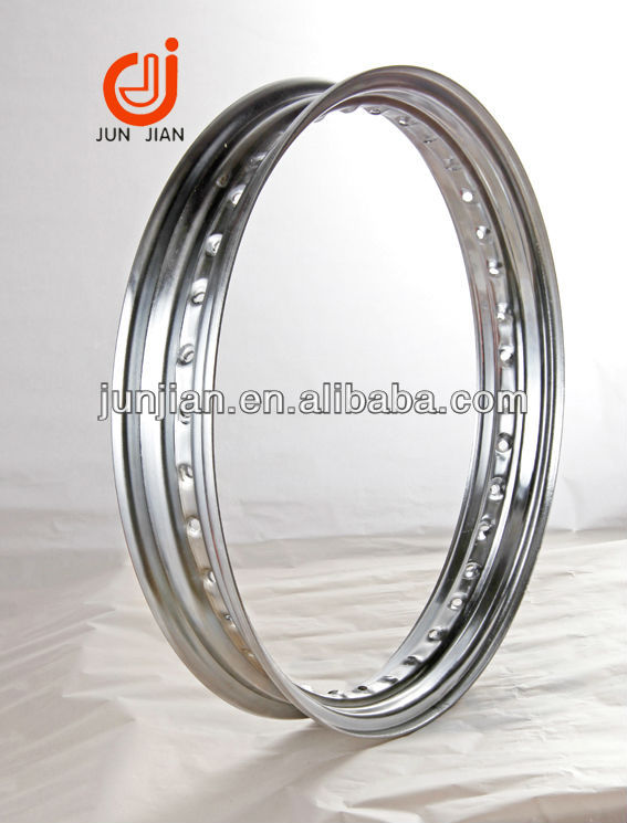 High performance Steel rim chrome finish for harley scooter 3.00-16