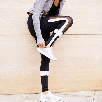 a04aeaa7d4c211 YOUME Black and White Patchwork Leggings Women Mesh Fitness Legging Plus  Size Sports Fitness Styles Elastic