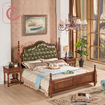 Aerican Antique Bedroom With Top Leather Headboard Buy Antique