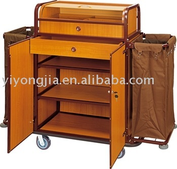 Hotel housekeeping cart service trolley housekeeping for Hotel room service cart